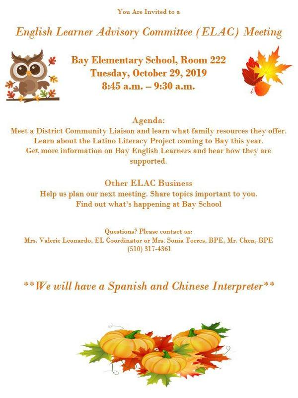 English Learner Advisory Committee (ELAC) Meeting Featured Photo