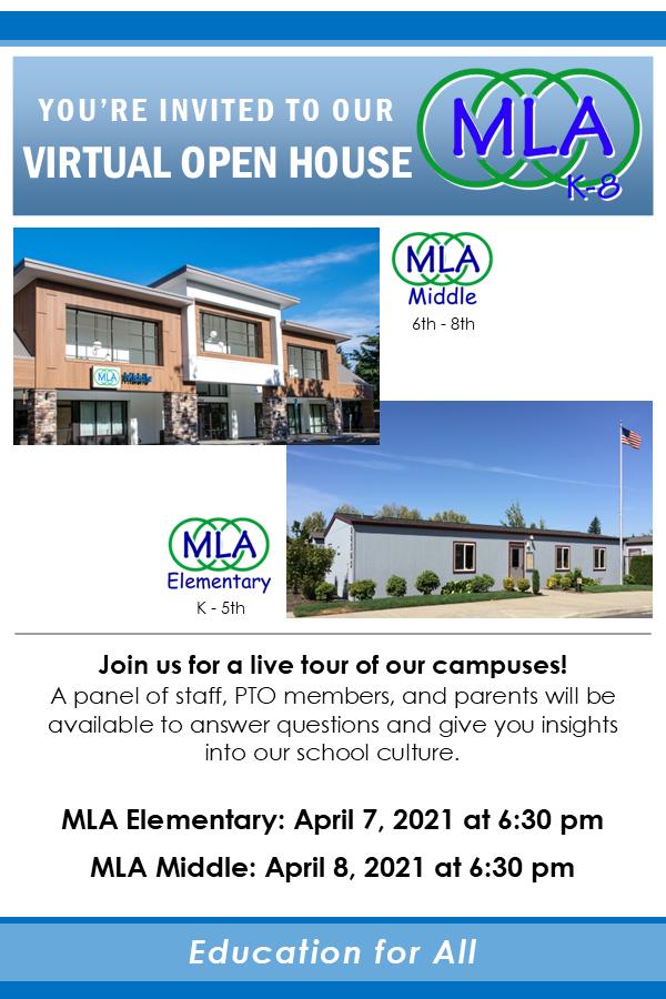 MLA Live Virtual Open Houses