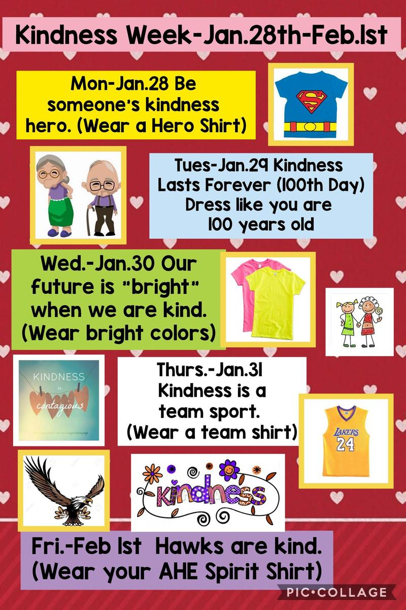 kindness week schedule