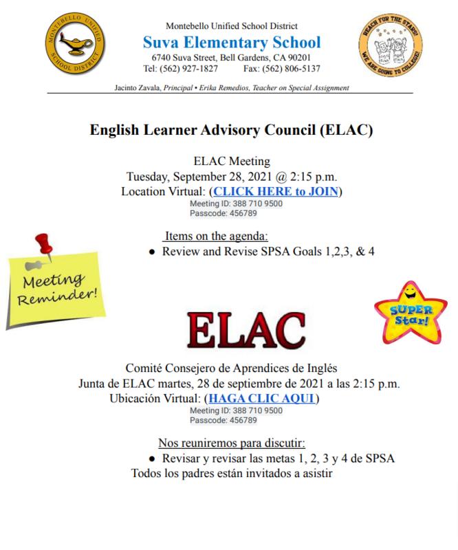 ELAC September Flyer