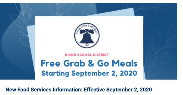 New Food Services Information: Effective September 2, 2020 Featured Photo