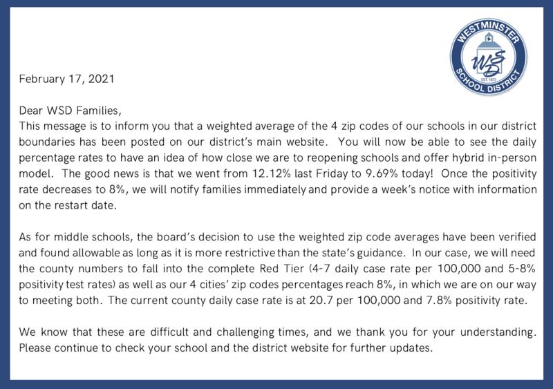 February 17th Letter