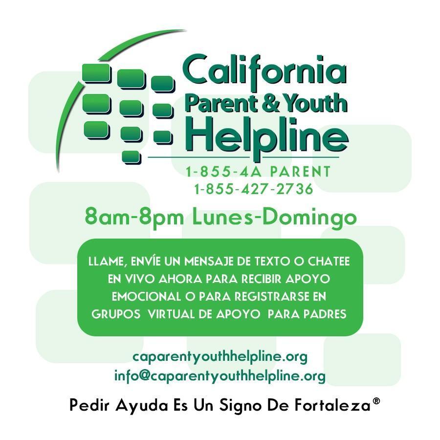 parent help line info in spanish