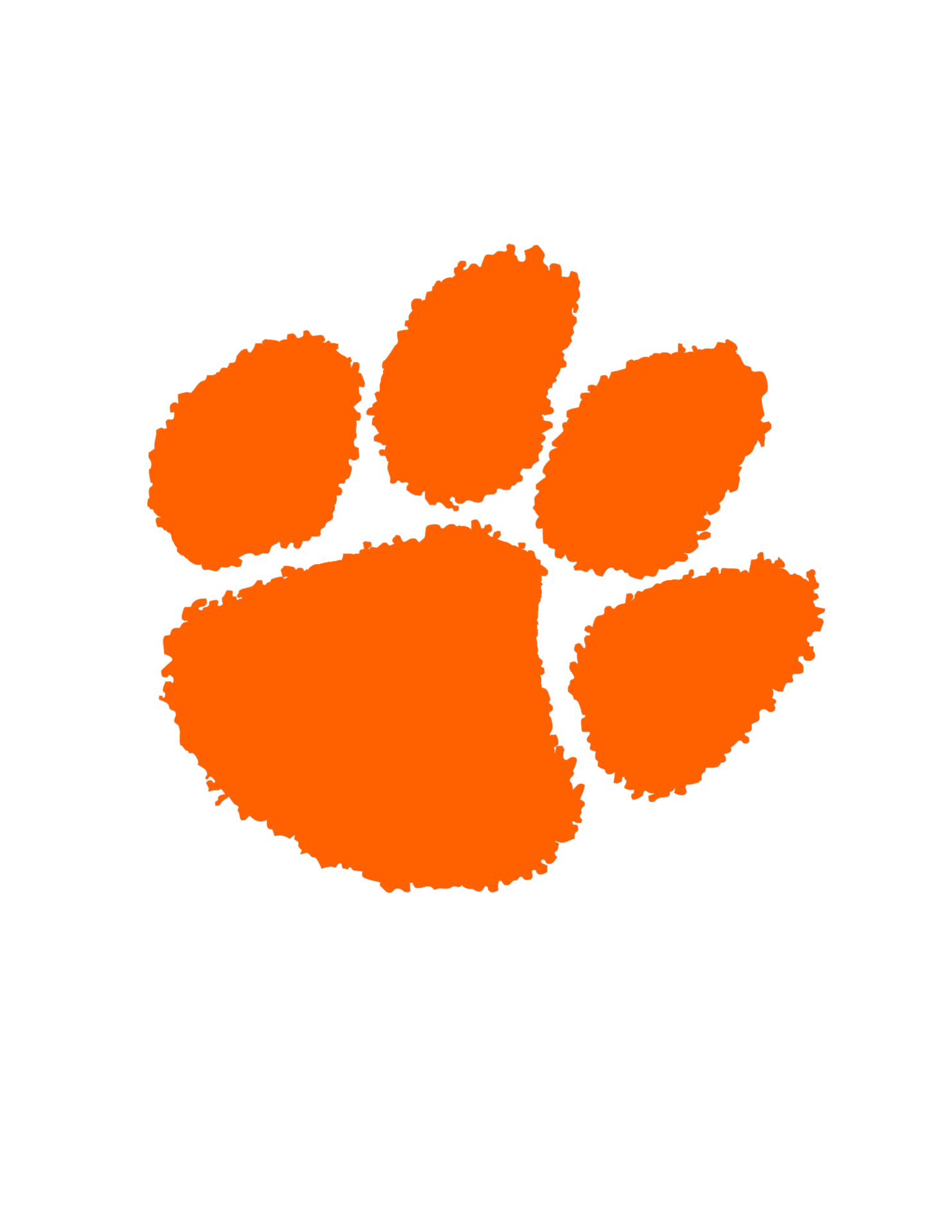 orange cougar paw