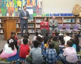 state rep cloud talks with torres elementary students about hurricane harvey recovery