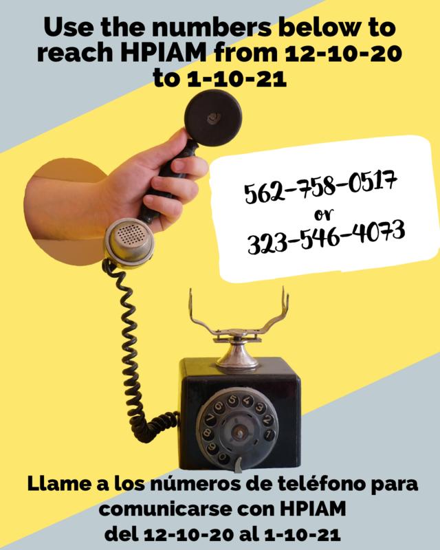 Call HPIAM during the campus closure/Llame a HPIAM durante el cierre del campus Thumbnail Image
