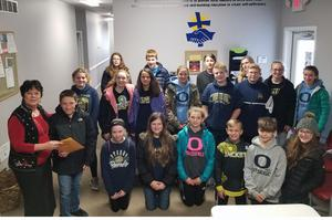 Student Council kids with Christian Neighbors representatives