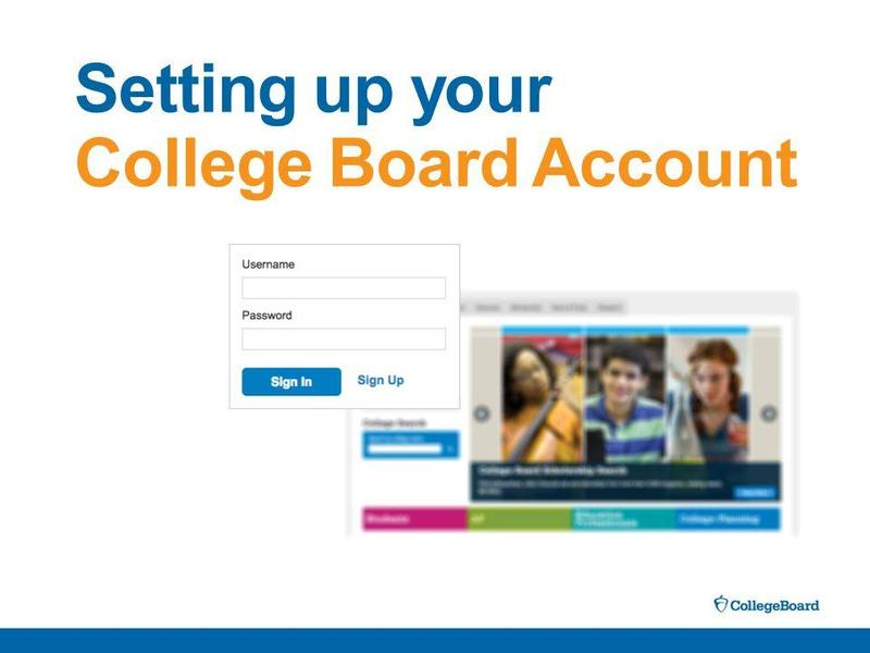 Setting Up Your College Board Account