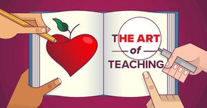 Picture that reads the Art of Teaching