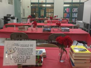Books on tables