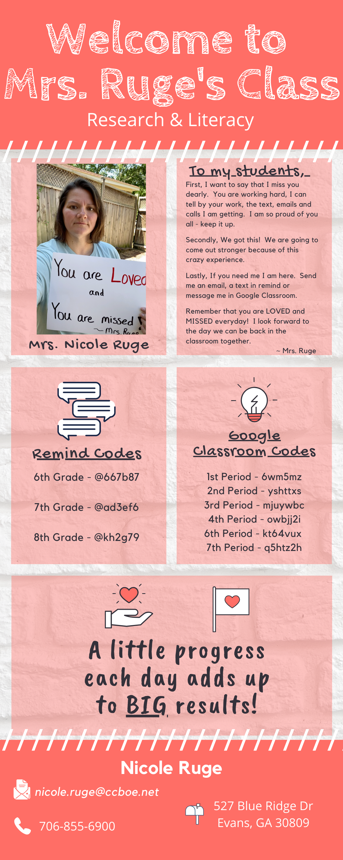 Mrs. Ruge's Webpage
