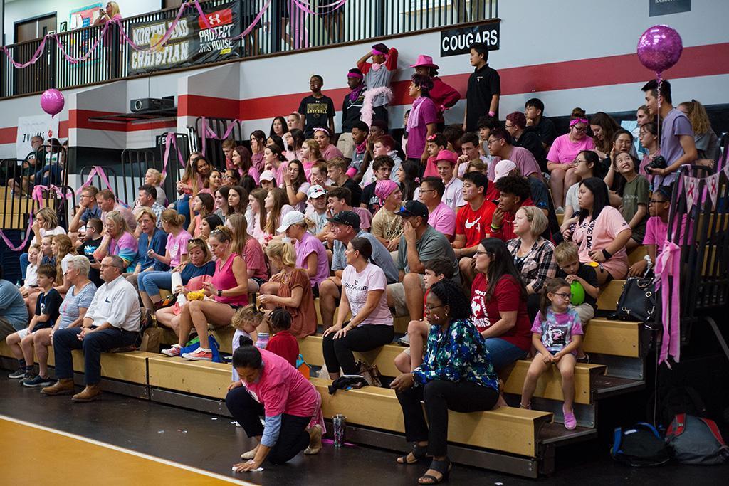 Girls Volleyball crowd