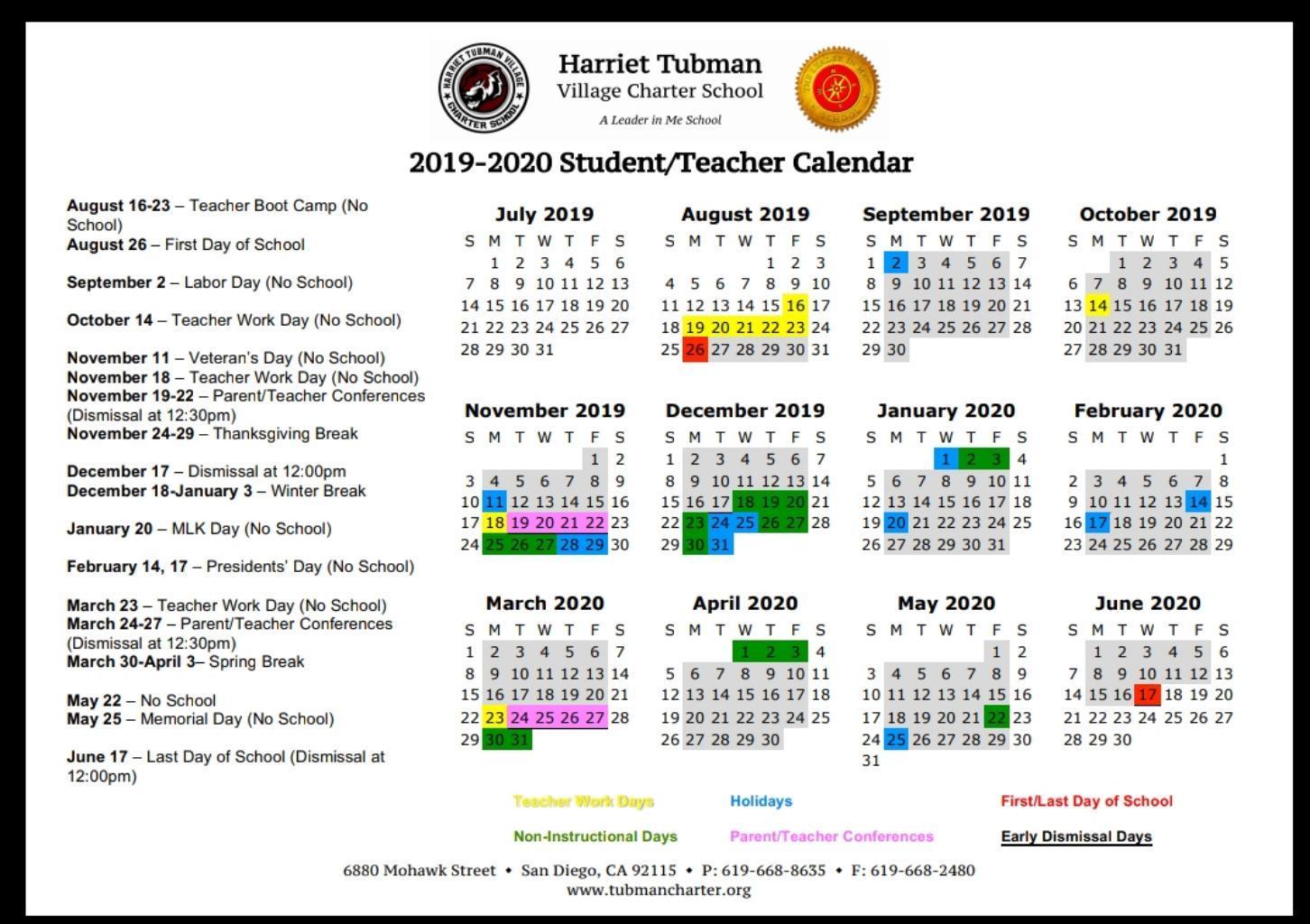 School Year Calendar 2019 16 School Year Calendar 2019 20 – School Year Calendar 2019 20