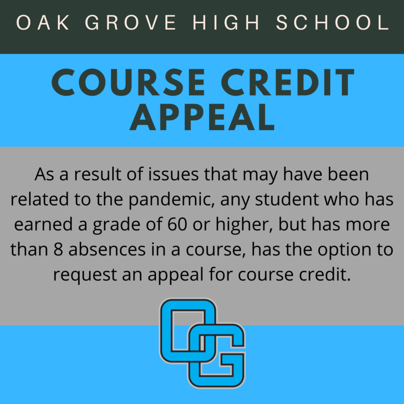 Course Credit Appeal Form
