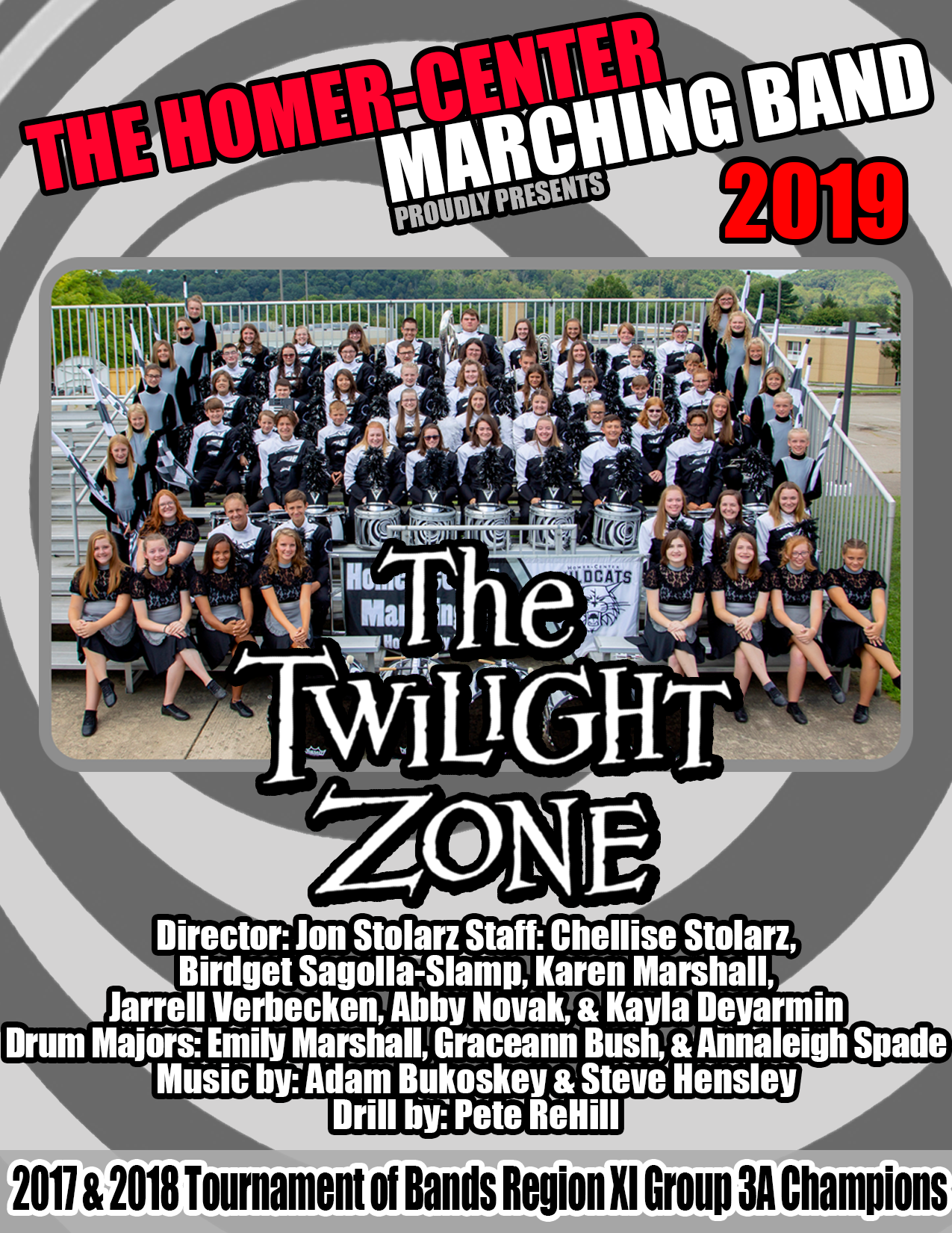 Homer-Center Marching Band 2019 The Twilight Zone