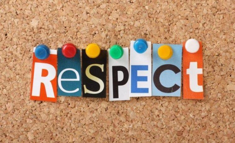 corkboard featuring the word respect