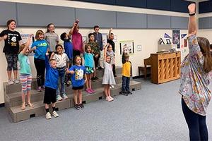 Legacy students learn frenship way song