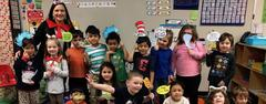 To celebrate Dr. Seuss' birthday, Liberty Elementary students and staff dressed as Dr. Seuss characters, and the students had the opportunity to hear from a variety of guest readers