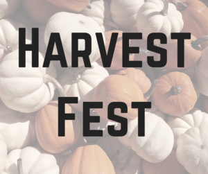pumpkin photo with text Harvest Fest