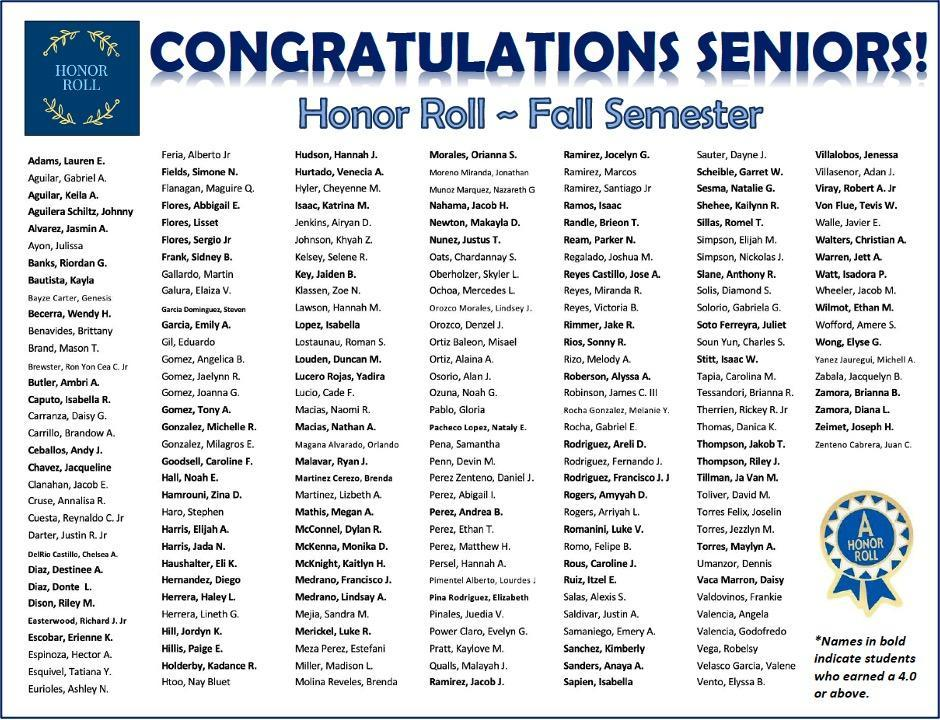 honor roll 12th