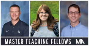 Master Teaching Fellows Bryan Hayes Courtney Howlett and Cody Spicer