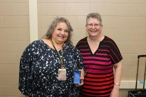 Nancy Gonzalez with PEIMS Coordinator Anne Jones.
