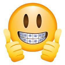 smile emoji with thumbs up