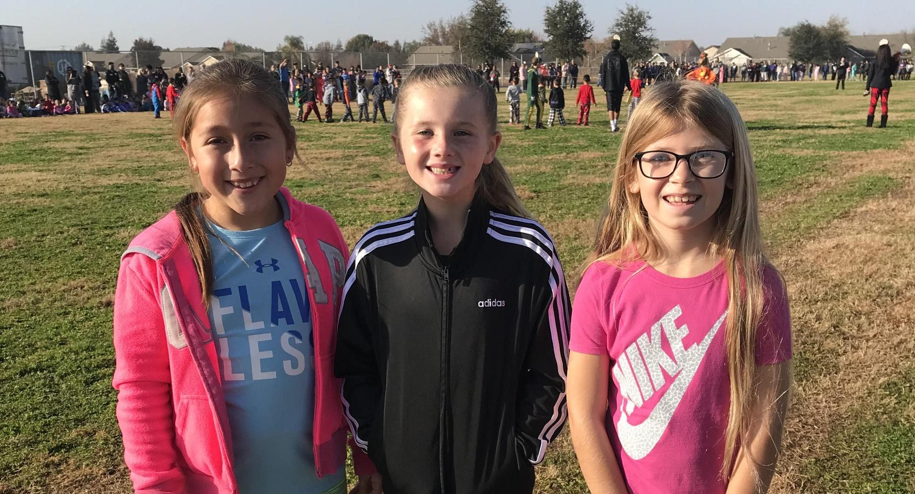 Students participating in our annual Turkey Trot