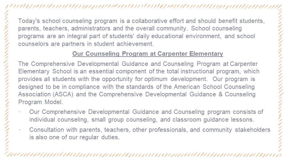 Counseling Program Overview