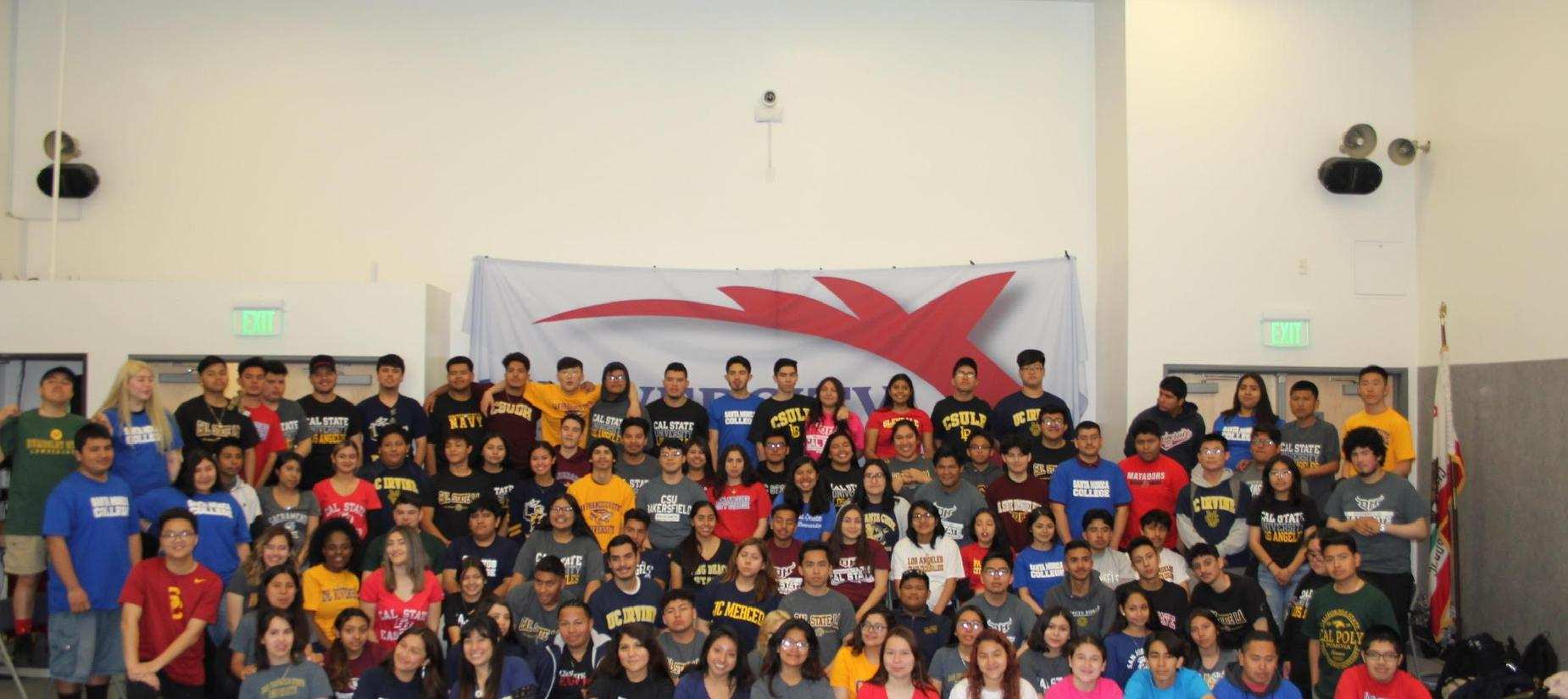 UPVHS students representing their college acceptances