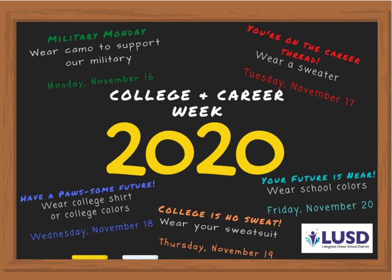 college and career week schedule