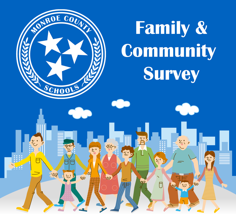 Clipart Image of family and community members