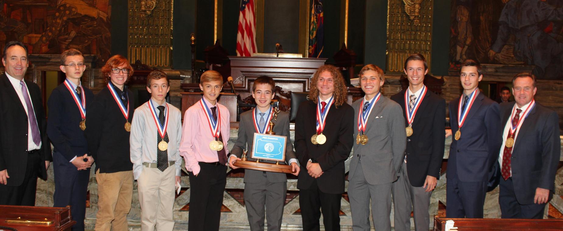 2017 PIAA Cross Country Champions in Harrisburg