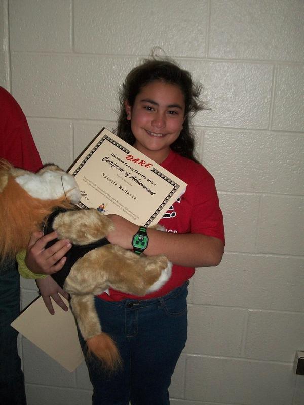 Essay winner Natalie Rodarte.