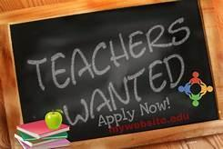 Teachers wanted sign