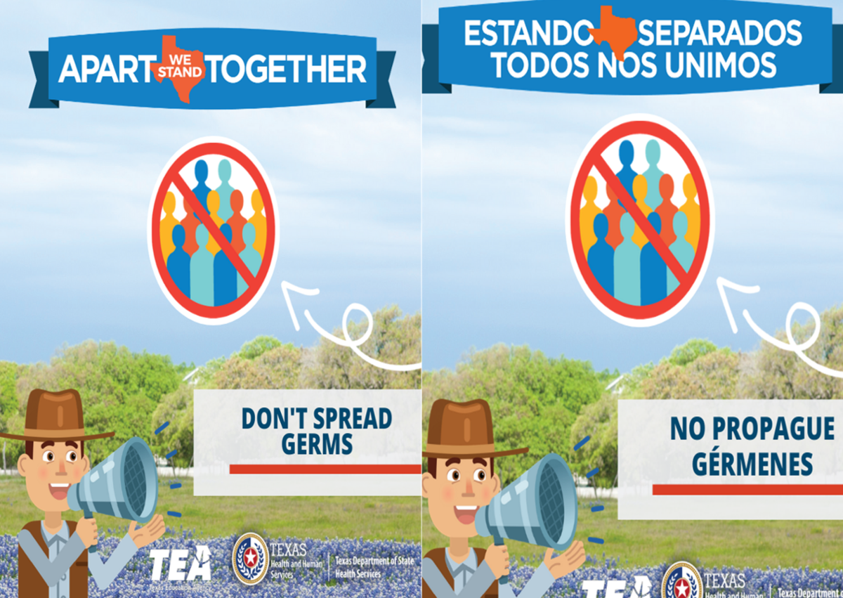 Apart We Stand Together! Don't Spread Germs!