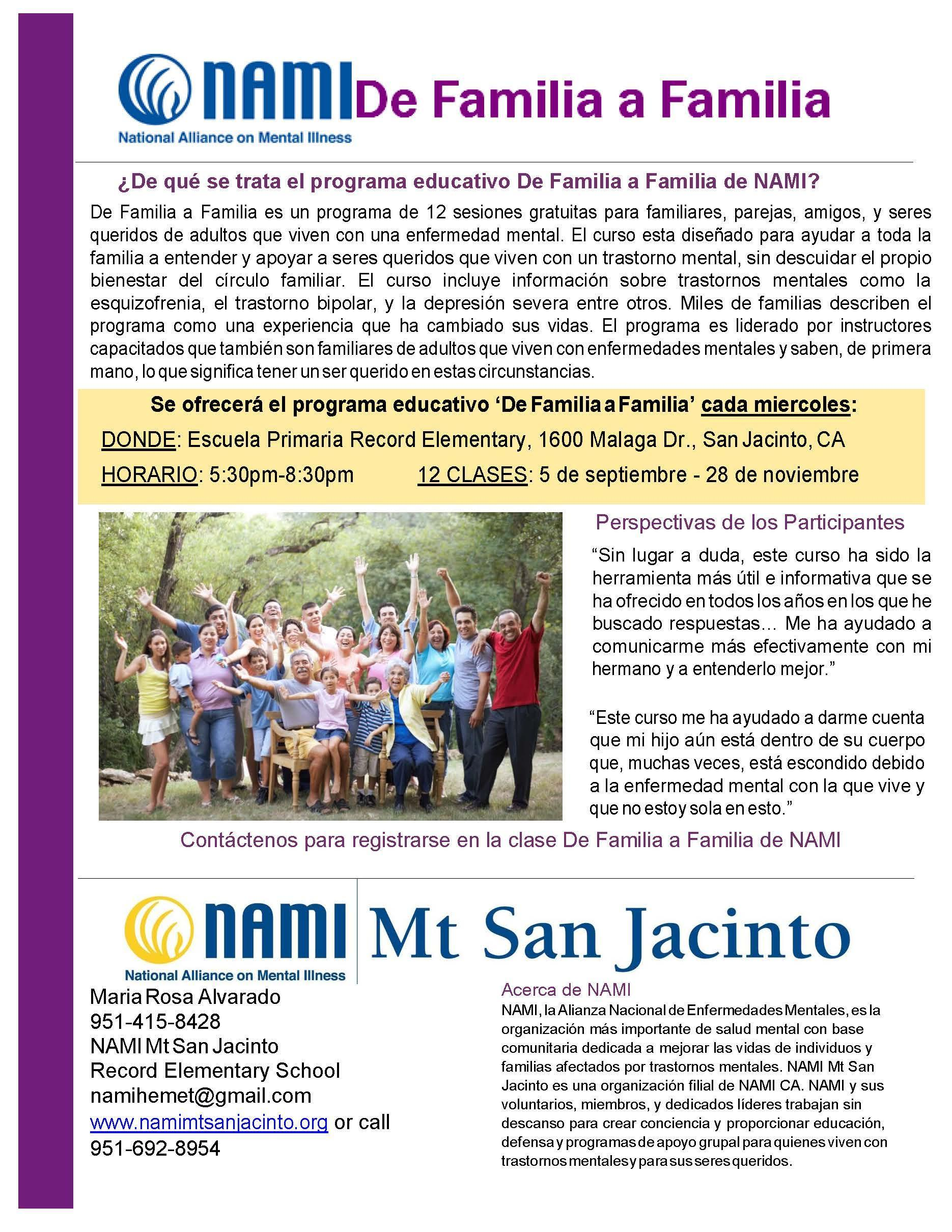 NAMI Parent Classes (Spanish)