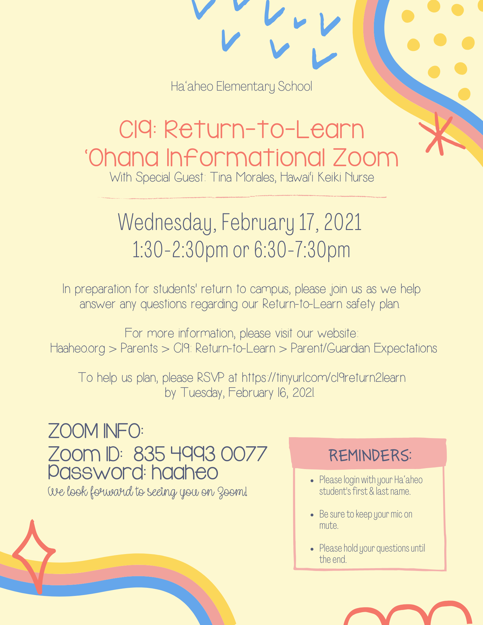 C19: Return-to-Learn Flyer