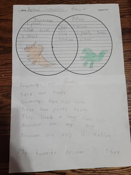 Jayleni's dinosaur worksheet