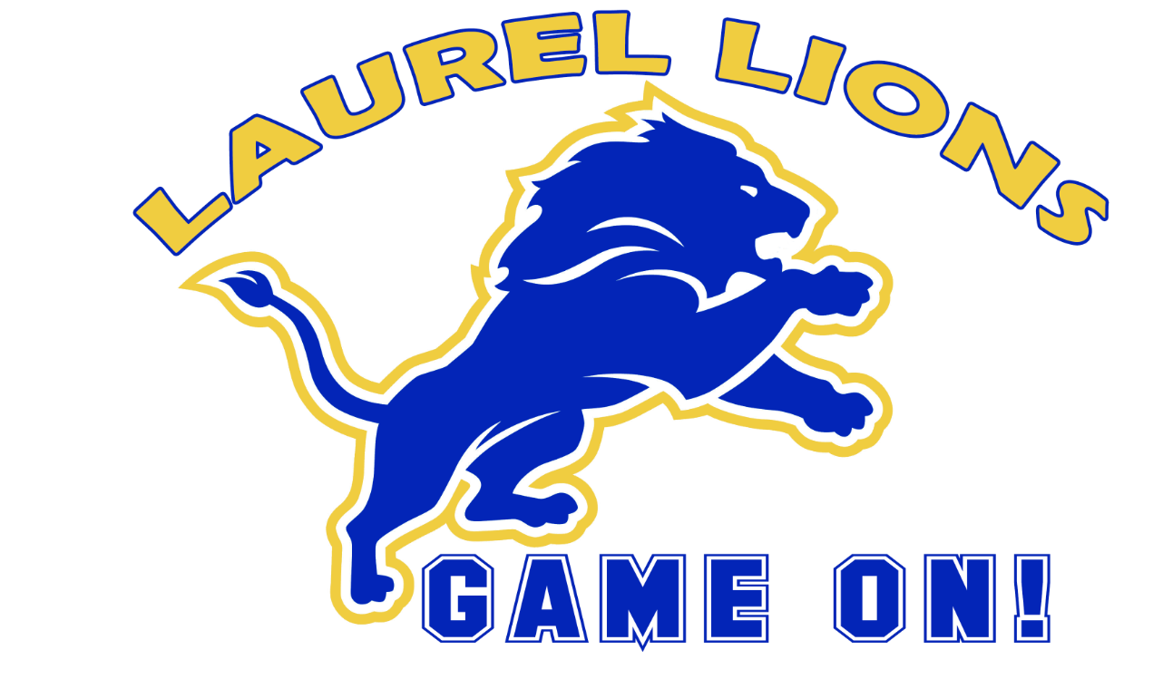 Laurel Elementary School logo with a lion