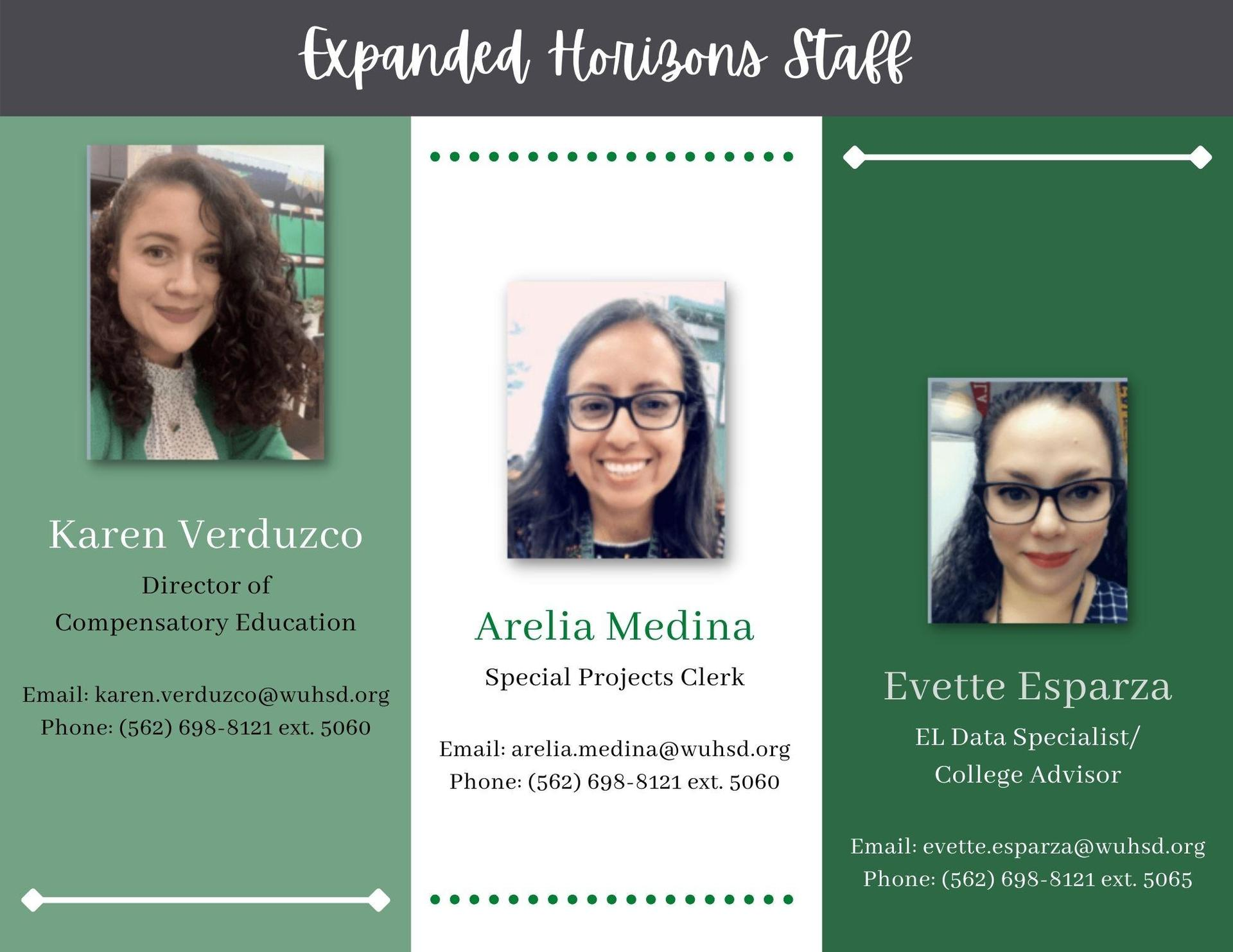 Expanded Horizons Staff