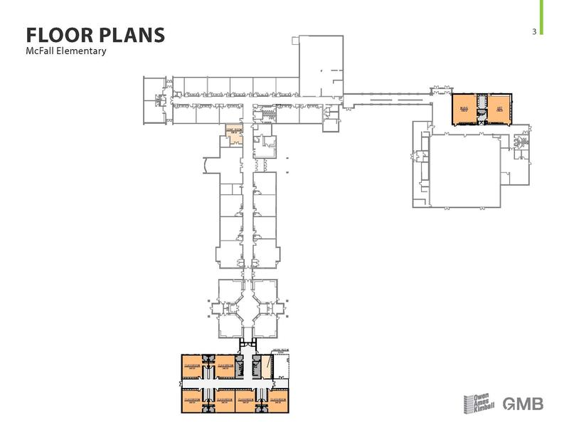 Plans for additional classrooms at McFall Elementary.