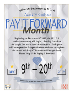 Pay It Forward Donation Drive Featured Photo