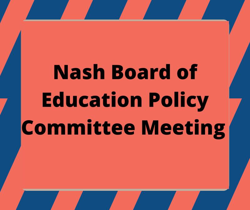 BOE Policy Committee Meeting