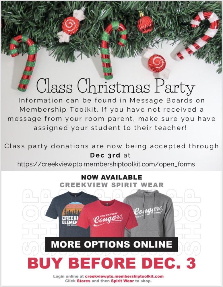 Class Party/Spirit Wear