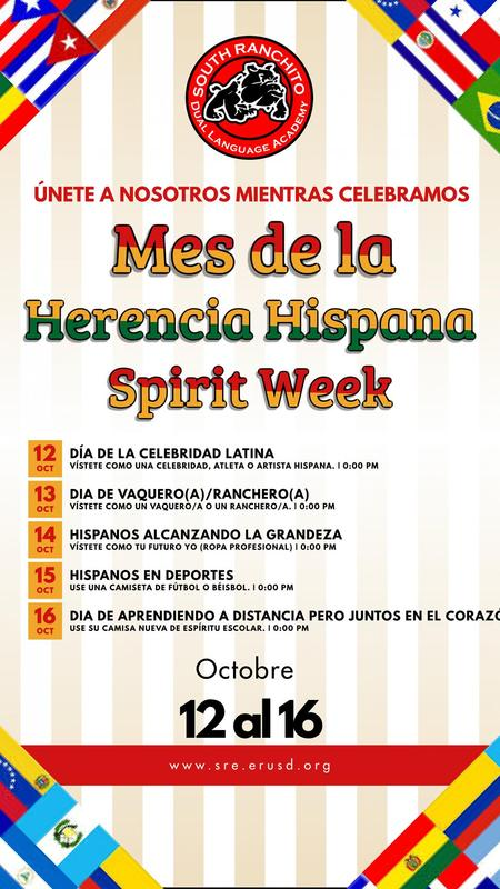 Hispanic Heritage Spirit Week S