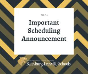 Batesburg-Leesville High School To Remain On 4-Days-Per-Week, In-Person Schedule