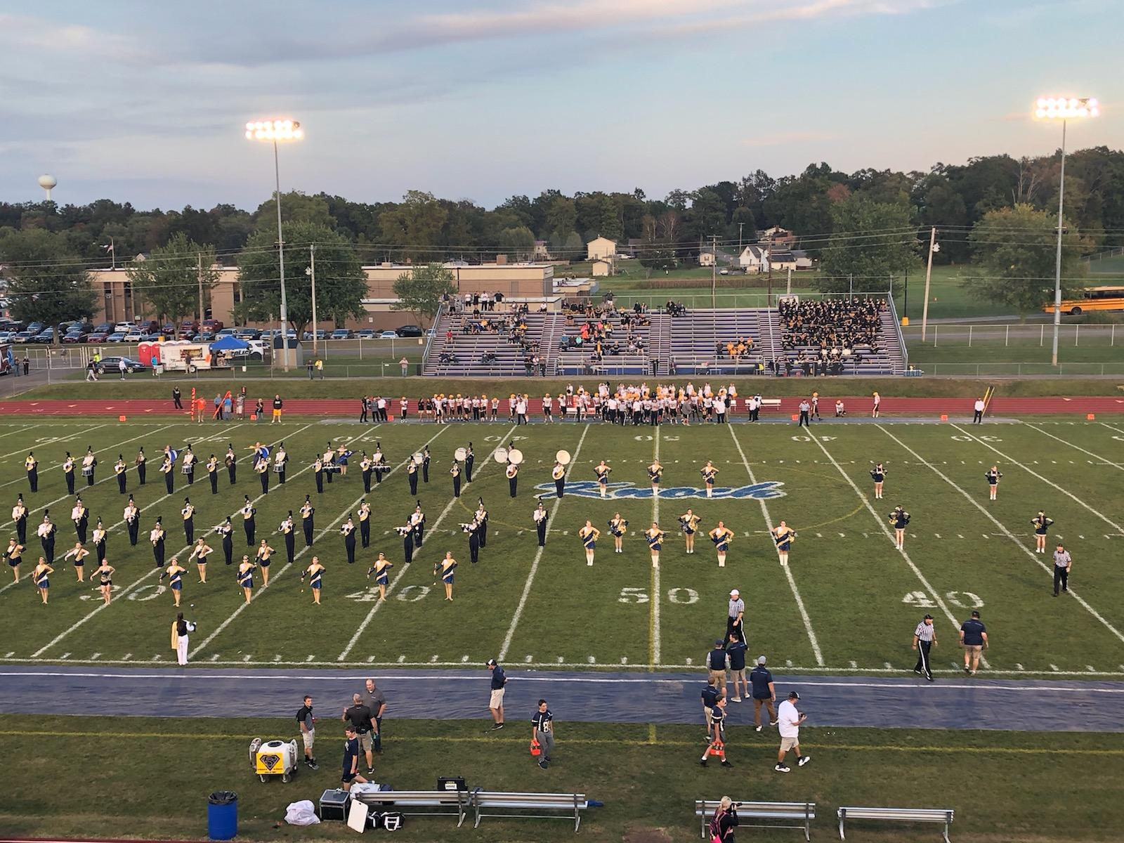 Field with Knoch logo and band