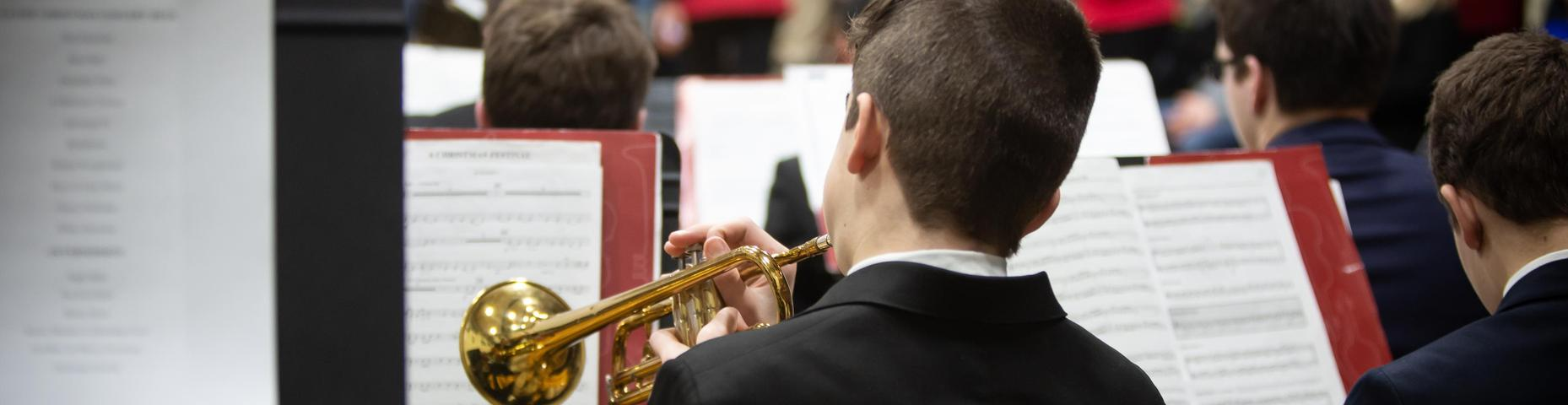 Students playing at the Holiday Concert
