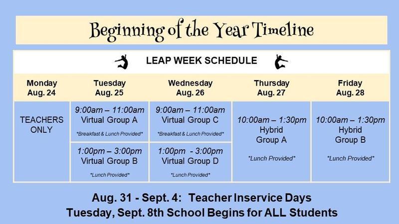 LEAP week schedule